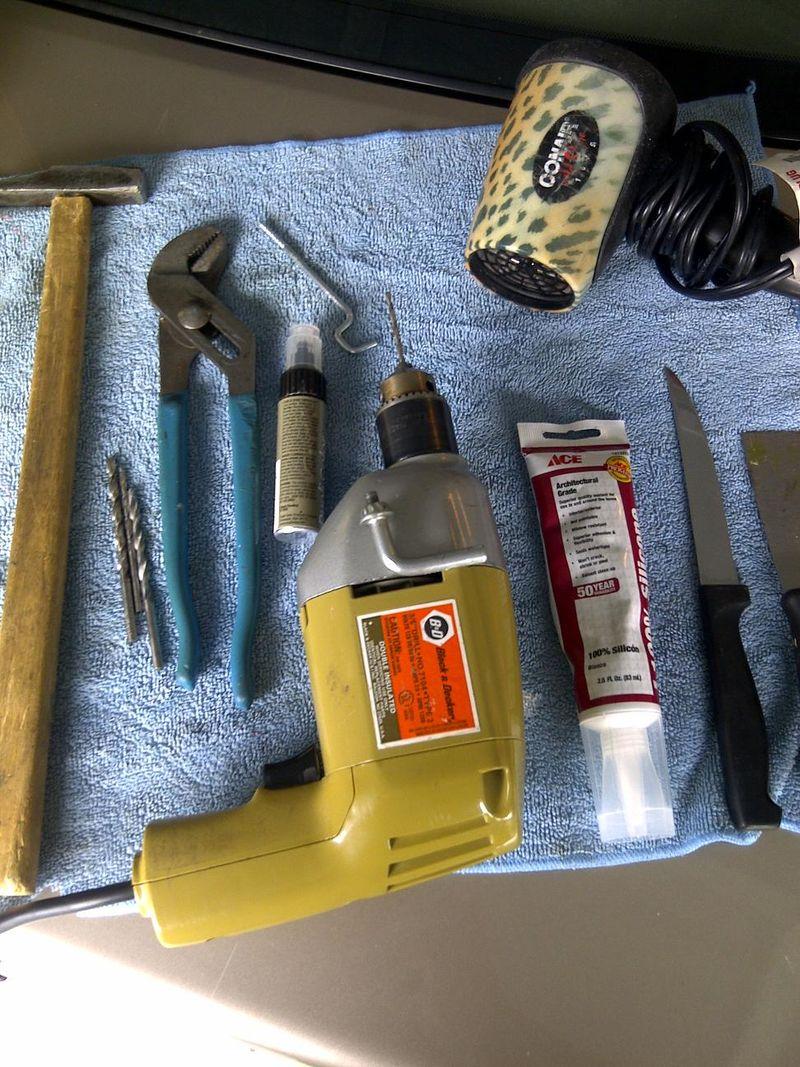 Plastic bumper DIY repair kit