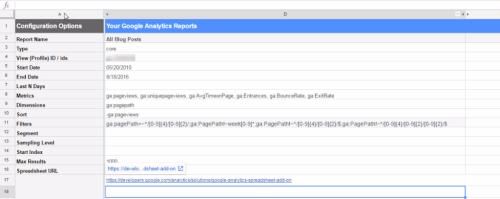 Google Analytics Configuration Options