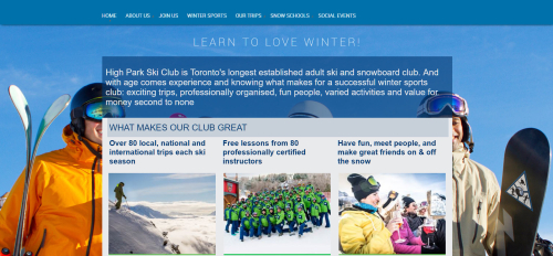 High park ski club home page
