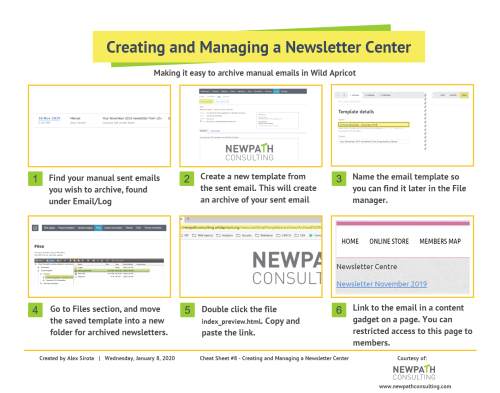 8 - Building a Newsletter Center in Wild Apricot
