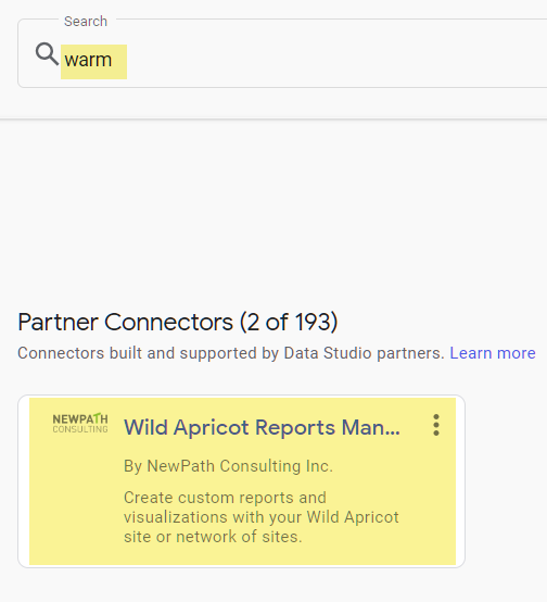 Select warm under partner connector
