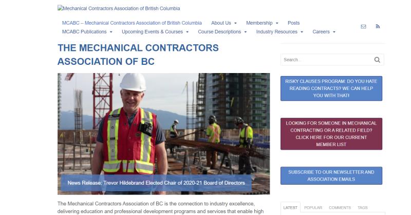 MCABC Website Before